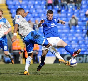 Local boy Callum Reilly in action for Birmingham City recently (© Birmingham City FC)