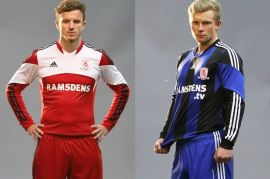 Middlesbrough FC Boro 13-14 Home and Away Kits