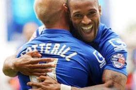 Birminghams-Wes-Thomas-celebrates-his-goal-with-David-Cotterrill