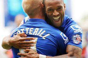 Birminghams-Wes-Thomas-celebrates-his-goal-with-David-Cotterrill