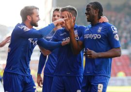 Clayton-Donaldson-celebrates-scoring-the-second-goal-for-Birmingham-City-at-Nottingham-Forest
