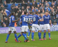 Birmingham-City-players-celebrate-the-opening-goal-against-Rotherham
